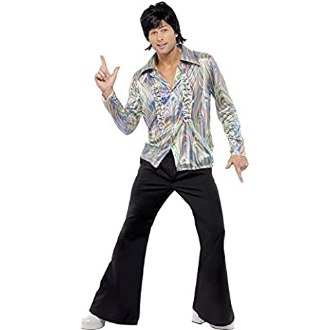 Smiffy's - Costume da superstar anni '70, incl. camicia psichedelica