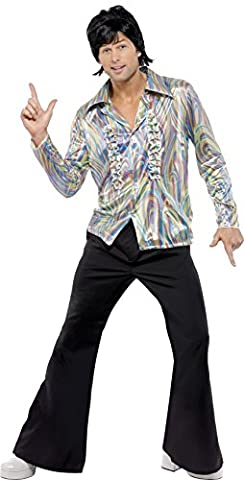 Smiffy's Men's 70s Retro Costume, Shirt and
