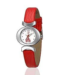 Yepme Zenya Women's Watch - White/Red -- YPWWATCH0880
