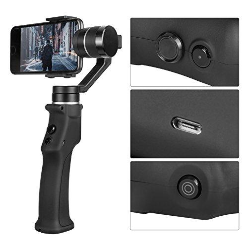 MRCARTOOL Estabilizador de Gimbal de Captura de Mano para Smartphone Control Inalámbrico Vertical Shooting Panorama Modo Foto Bellfy Edición App para iOS Android