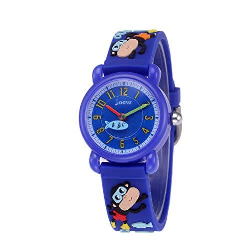 Comtervi Kinder Analog Uhren für Mädchen Junge, Kinder Sport Wasserdicht 3D AFFE Cute Cartoon Uhr, Armbanduhr Mädchen Junge Teaching Handgelenk Uhren