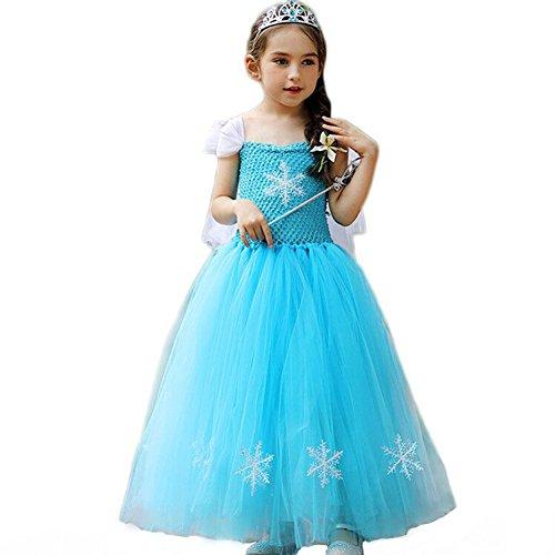 (CQDY Prinzessin ELSA Gefrorene Schneekönigin Kostüm Kostüm Prinzessin Cosplay Party Outfit)