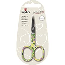 Rayher Hobby 53795000 tijeras de bordar, 9,5 x 4,5 cm, SB-blister 1 pcs