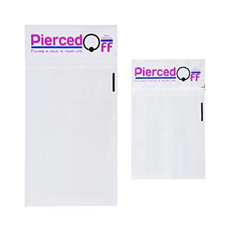 PIercedOff Piercing nombril Double Strass (disponible en différentes couleurs) Rose