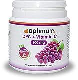 Premium OPC hochdosiert mit natürlichem Vitamin C | 450 mg reinem echtem OPC und 40 mg Vitamin C | Hergestellt in Deutschland | 100 % Geld zurück Garantie