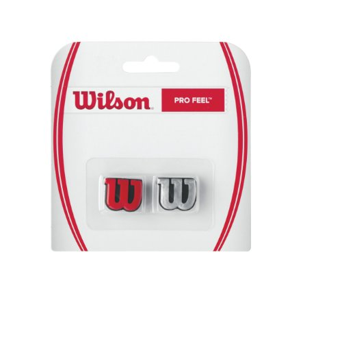 Wilson Pro Feel Tennis Vibration Dampener, Red/Silver