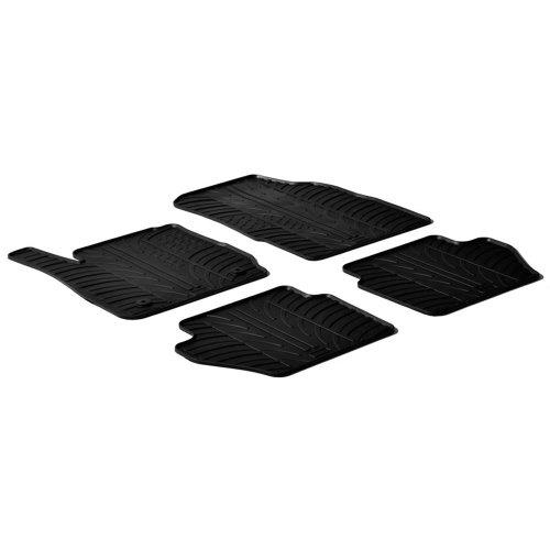 Preisvergleich Produktbild Gummimatte für Ford Fiesta VII, Clip-Montage, T-Profil, 4-teilig