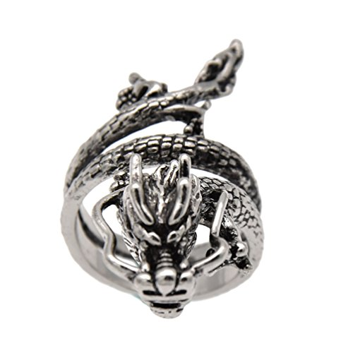 YNuth Anello Anelli Ring Regolabile da Uomo Unisex Forma Drago Cinese...