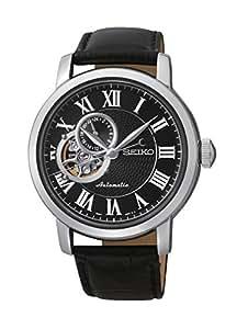 Seiko - SSA233K1 - 5 Superior - Montre Homme - Automatique Analogique - Cadran Noir - Bracelet Cuir Noir