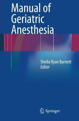 Manual of Geriatric Anesthesia (2012-08-11)