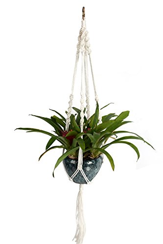 Magiin Pflanze Aufhänger Seil Nylon Plant Holder Macrame Knotted Hanger Rope for Indoor Outdoor Flower Pot (Suit Hanger Natürliche)