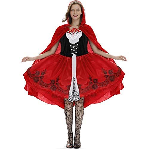 SPFAZJ Kostüm Damen Damenkostüm Sexy Rotkäppchen Red Riding Hood Barock Gothic Lolita Märchen - Gothic Red Riding Hood Kostüm Für Erwachsene