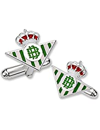 Gemelos escudo Real Betis plata de ley esmaltado [8625] - Modelo: 50-059