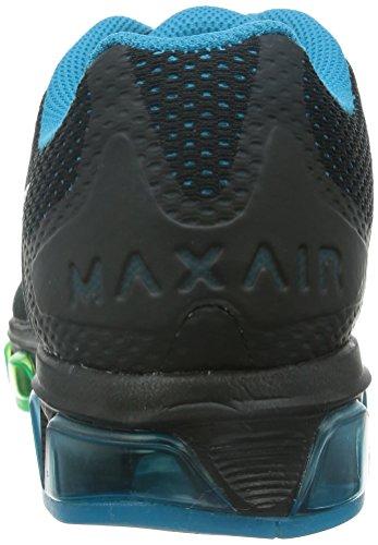 Nike Air Max Tailwind 7, Chaussures de running homme Black-White Bl Lagoon-Psn Grn