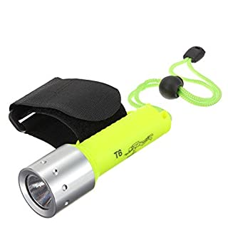 ArlyBaba 800lm Lumen XML T6 LED Waterproof Underwater Diving High light Lamp 18650 Diving Flashlight Torch