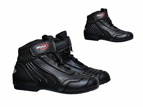 maxfive Motorrad Stiefel Paddock kurz Touring Highway Adventure rutschfeste Racing Sport und Stiefel Motorrad kurze Knöchelschutz Boot Schuhe (Sport Racing Schuhe)