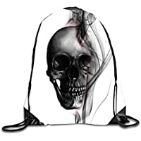 ERCGY Sackpack Skull Tumblr Drawstring Bag Yoga Dance Travel Daypack