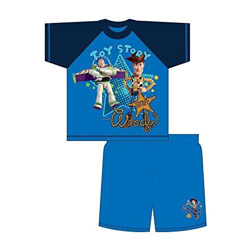 Toy Story Kinder/Kleinkinder Jungen Sheriff Woody Sommer Schlafanzug (4-5 Jahre (104)) (Blau) (Toy Story-pyjama Für Jungen)