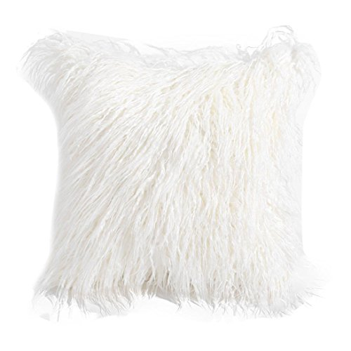 Kissenbezug Xinan Plüsch Fashion Throw Cases Cafe Sofa Kissen Werfen Home Decor (45cm*45cm, Weiß) (Flip-flop-kissen)