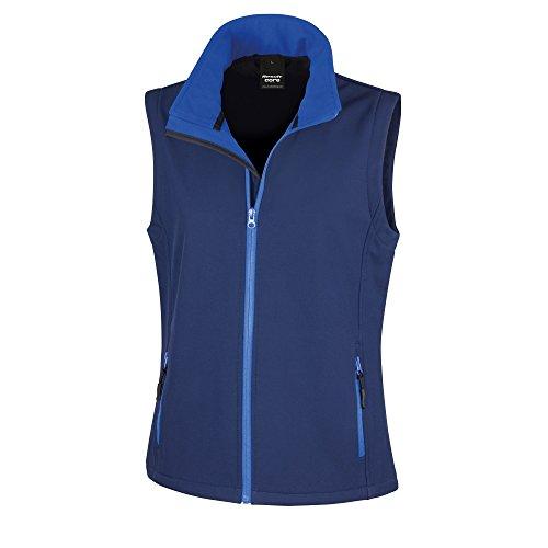 Result Core Damen Softshell-Weste, bedruckbar (Large) (Marineblau/Königsblau) - Damen Microfleece-weste