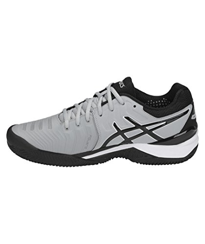 Asics Gel-Resolution 7 Clay, Chaussures de Tennis Homme Gris (Mid Greyblackwhite 9690)