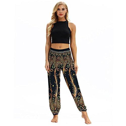 Keepwin-Pantalones Nuevo!! Mujer PantalóN Bombacho Flores PatróN Boh