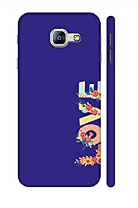 AMAN Love In Blue 3D Back Cover for Samsung Galaxy A8 2016