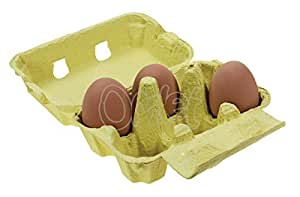 Egg Boxes - Yellow Pack of 20