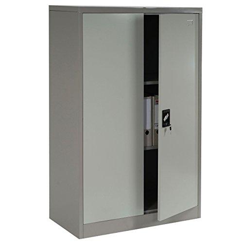 Aktenschrank creme, Metallschrank mit 2 Türen