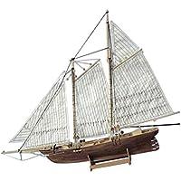 FLAMEER Modelo Velero Madera DIY Juguete Kit Ornamento Decorativo Adorno Casero para Hogar - America Model