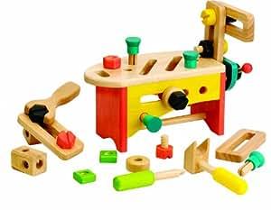 voila holzspielzeug werkzeugkasten werkbank f r rollenspiele spielzeug. Black Bedroom Furniture Sets. Home Design Ideas