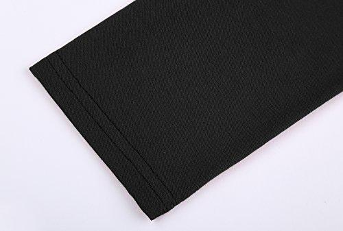 DJT Damen Langarmshirt Asymmetrisch T-Shirt Stretch Longshirt Schwarz#D156T17