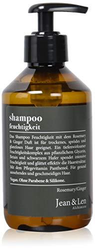 Trockene Spröde Haare (Jean & Len Shampoo Feuchtigkeit, Rosemary & Ginger, Feuchtigkeitsspender für trockenes, sprödes Haar, ohne Parabene und Silikone, 2er Pack (2 x 300 ml))