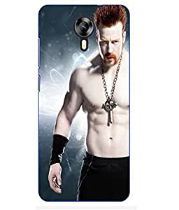 Snazzy Sheamus Printed Blue Hard Back Cover For MEIZU M2