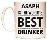 ASAPH IS THE WORLD'S BEST DRINKER Becher von WeDoMugs