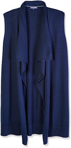 Tommy Hilfiger Damen NEW Havera Sleeveless Strickjacke Blau (NAVY BLAZER 400)