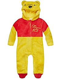 Disney Winnie Puuh Anzug Jumpsuit, Coral Fleece, gelb-rot, Gr. 62-92