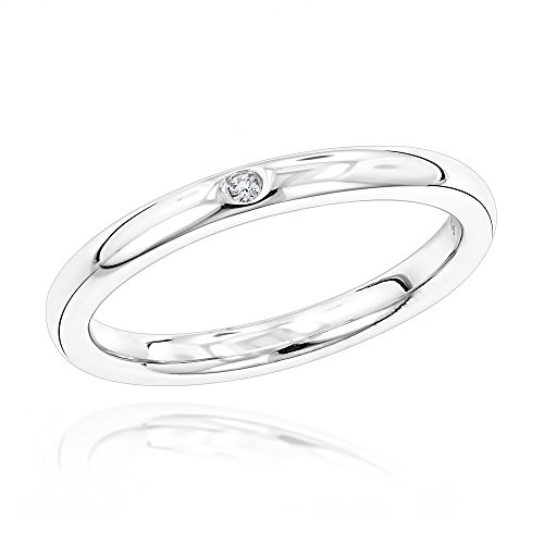luxurman-love-quotes-womens-stackable-sterling-silver-diamond-wedding-ring-size-55