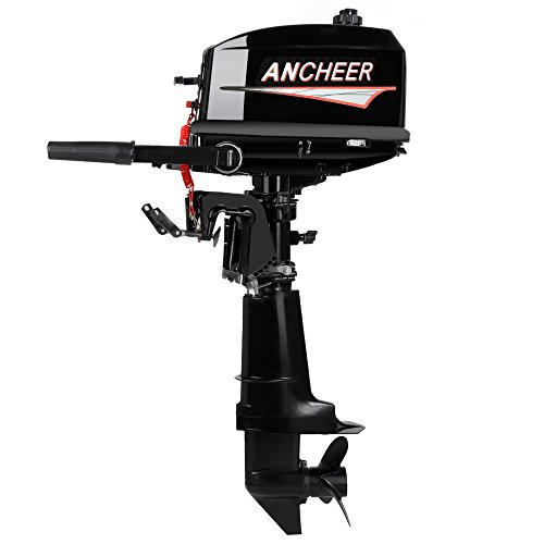 Ancheer Updated 6HP 2-Stroke Ship Outboard Motor Inflatable Fishing Boat Engine with Water Cooled System Test