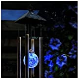 BRAND NEW COLOUR CHANGING LED SOLAR WIND CHIME LIGHT LAMP LANTERN OUTDOOR GARDEN PATIO