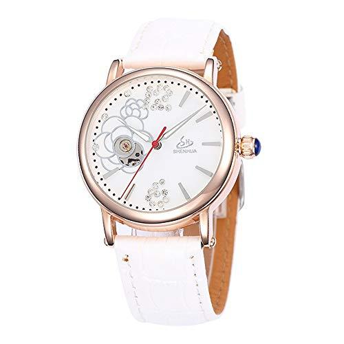 SJXIN Orologio meccanico di alta qualità, Shenhua/orologio meccanico automatico vuoto da donna 9352F (Color : 1)