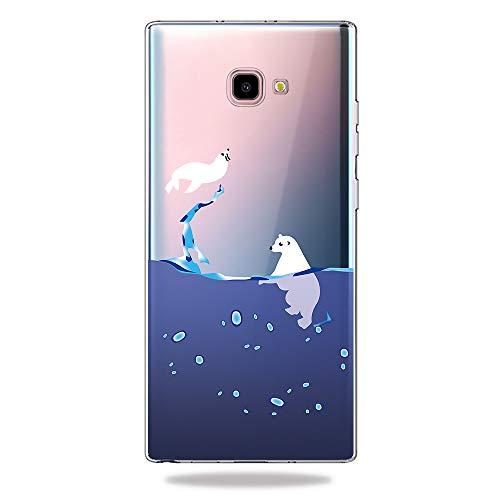 AChris Cover Samsung Galaxy J4 Plus, Custodia Gel Trasparente Slim Morbida Silicone Sottile TPU con...