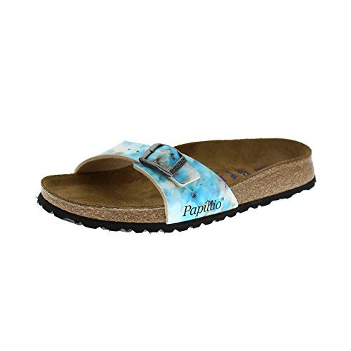 Papillio Madrid Birko-Flor Softfootbed, Ciabatte Donna, Mehrfarbig (Pixel Blue Soft), 39 Normal