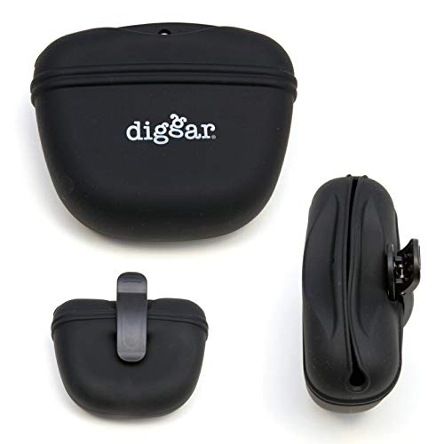 Diggar Silikon Futterbeutel für Hundetraining, Snack Tasche Snackbeutel (schwarz)