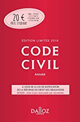 Code civil 2019 annoté. Édition limitée - 118e éd.