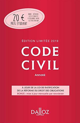 Code civil 2019 annoté. Édition limitée - 118e éd. par Collectif