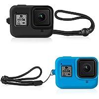 Deyard - Carcasa de Silicona para GoPro Hero 8 (Negro y Azul)