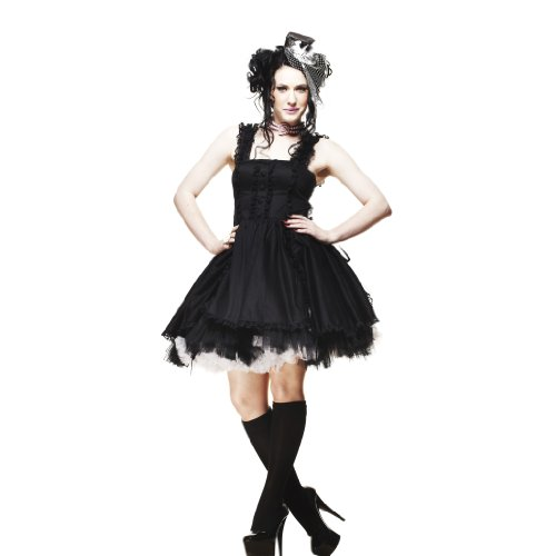 Hell Bunny - Robe -  Femme Noir Black-Black x-large Noir/noir