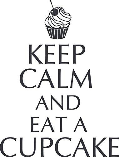 GRAZDesign 620345_40_073 Wandtattoo Keep Calm And Eat A Cupcake |  Wand Aufkleber Für Küche Und Essbereich | Für Küchen Rückwände Aus Fliesen    Möbel  ...