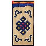 Interact China 100% Artesanía Algodón Tibetano Paño Panel de Puerta Cortina 90 x 180 cm Adorno de...